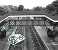 Hagley Station Footbridge in the 1980s