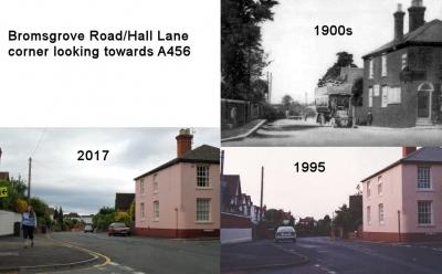 Bromsgrove Road / Hall Lane corner looking towards A456