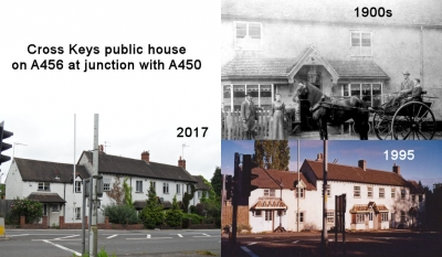 Cross Keys Public House on A456 at the junction with A450
