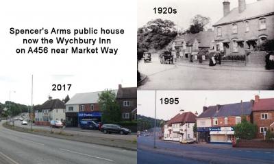 Spencer's Arms Public House now the Wychbury Inn on A456 near Market Way