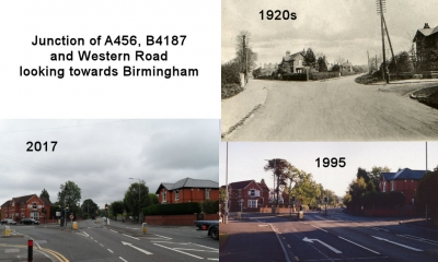 Junction of A456, B4187 and Western Road looking towards Birmingham