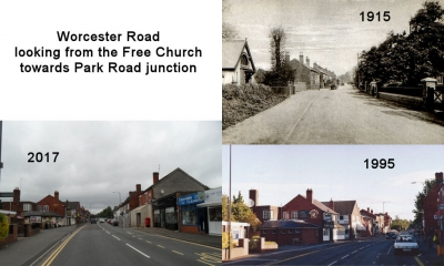 Worcester Road looking from the Free Church towards Park Road junction