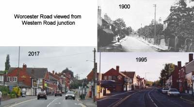Worcester Road viewed from Western Road junction