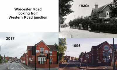 Worcester Road looking from Western Road junction
