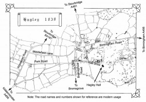 Tithe map of Hagley 1838