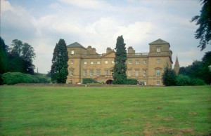 Hagley Hall, built by Sanderson Miller for the first Lord Lyttelton in 1754-60